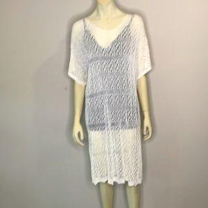 Joia Beach/Swimwear Crochet Cover Up Size L